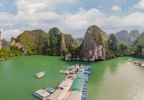 Halong Bay and the fish farms