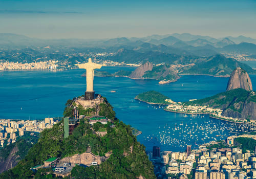 Aerial,Helicopter,Panorama,Of,Botafogo,Bay,With,Christ