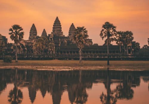 Angkor Wat in the red sunset light