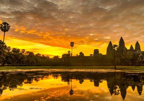 Beautiful sunset over Angkor Wat