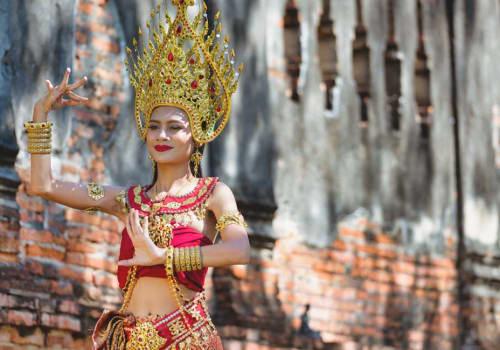 Beautiful girl dressed as Apsara