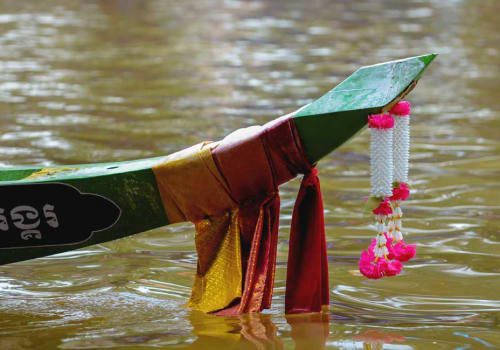 Colorful tail of the Khmer Boat