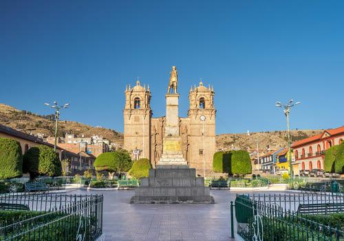 Puno,Armas,Plaza,And,Cathedral.,(peru)