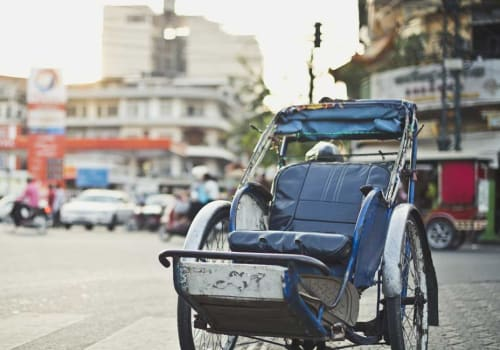 A cyclo in the Phnom Penh street