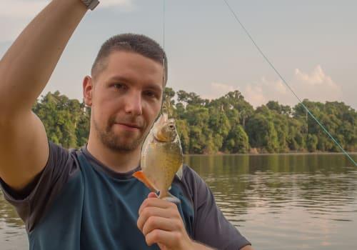 Tourist,Is,Fishing,The,Piranha,In,The,Amazon,Jungle