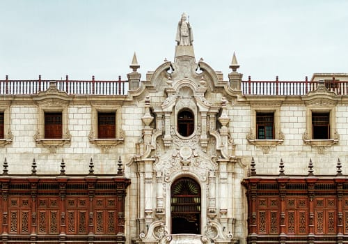 Frontal,View,Of,The,Facade,Of,The,Archbishopric,Of,Lima