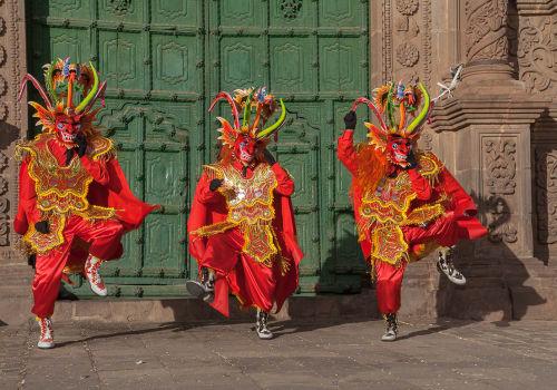 Dancing,Devils,Of,The,Candelaria,Festival.,Puno, Peru