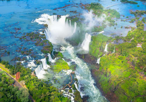 Beautiful,Aerial,View,Of,Iguazu,Falls,From,The,Helicopter,Ride,