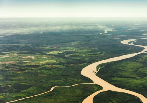 Landscape,Aerial,View,Of,Colorful,Amazon,Rivers,,Forest,With,Trees,