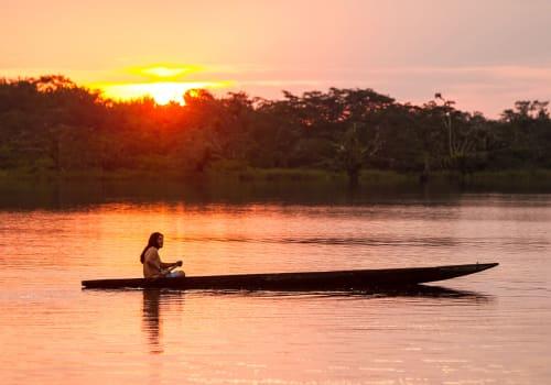 Ecuador,Amazon,People,Tribe,Indigenous,Biodiversity,Canoe,Boat,Cuyabeno,Amazonia