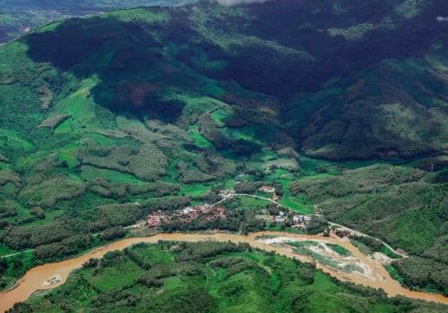 Mekong aerial view