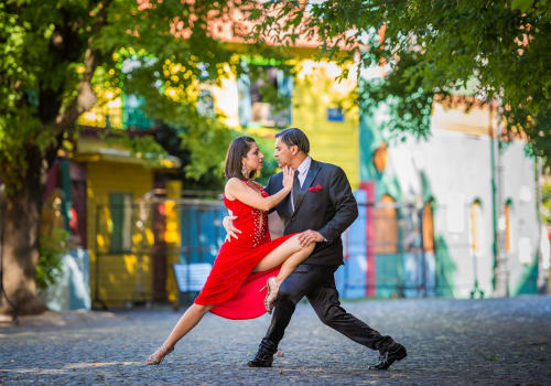 couple dancing tango in buenos aires, argentina
