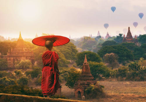 Buddhism child monk in Bagan