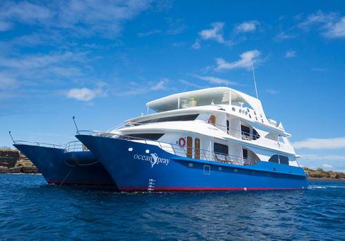 Exterior Of The Ocean Spray Cruise in Galapagos