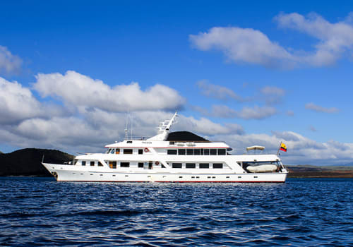 Exterior Of The Passion Yacht, Galapagos