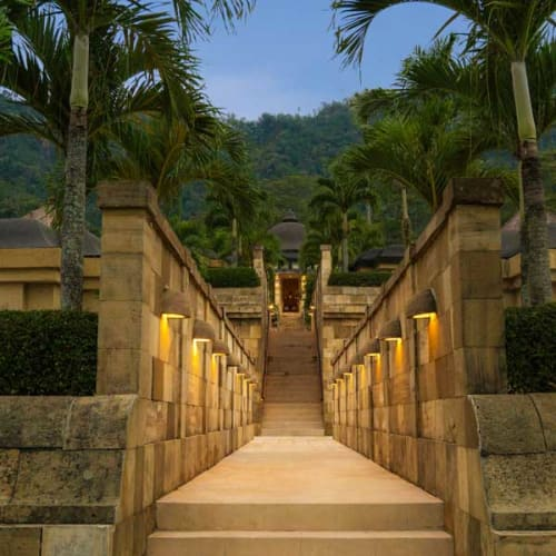 Entrance to a luxury resort