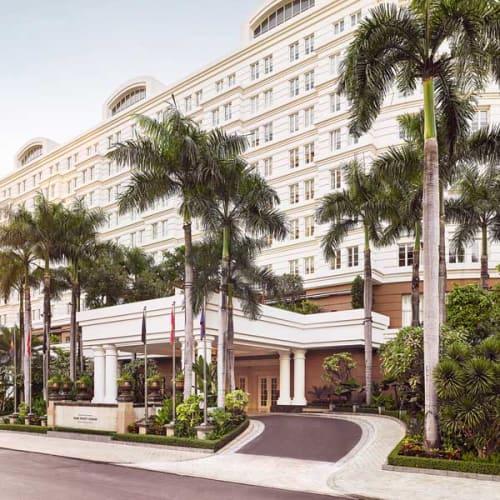 Driveway of luxury hotel