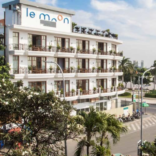 Hotel by the boulevard in Phnom Penh