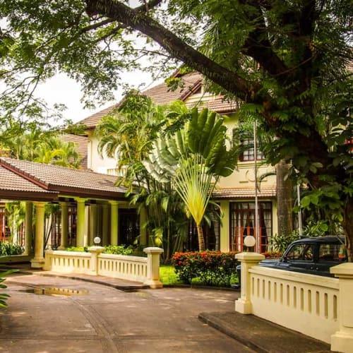 Colonial building in Laos