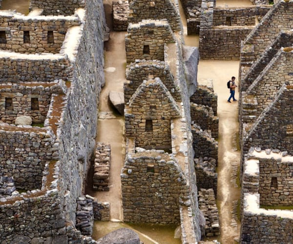 A lonely photographer in Machu Picchu