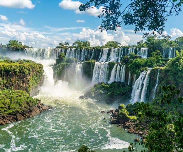 Large Iguazu Waterfall