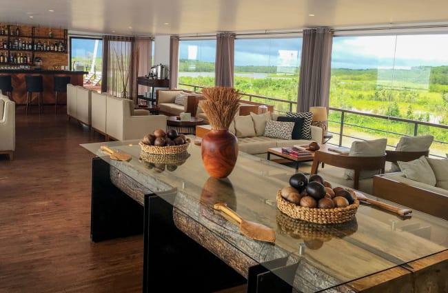 Lounge with panoramic windows