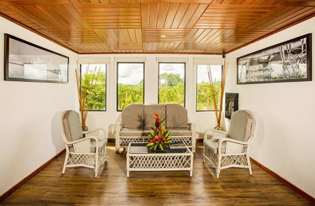 Indoors sitting area