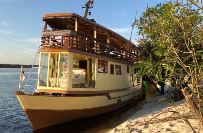 Amazon Odyssey moored