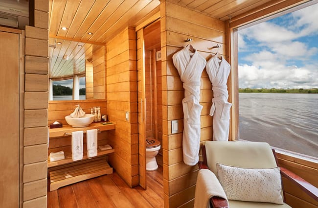 Lavatory with a river view
