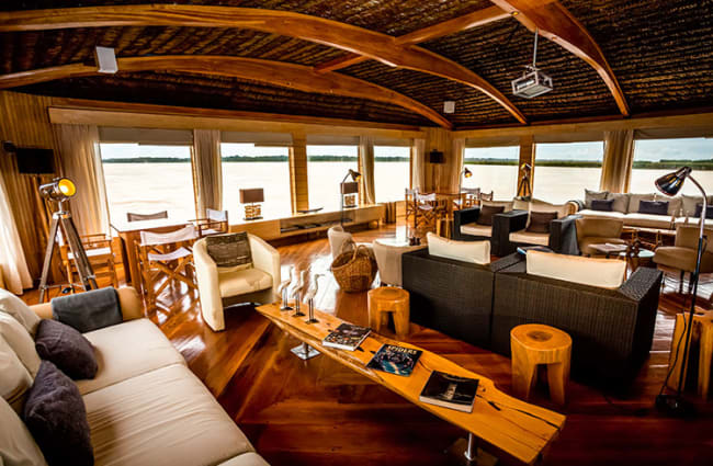 Indoor lounge onboard