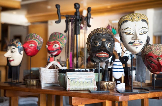 Local arts and crafts at the boutique