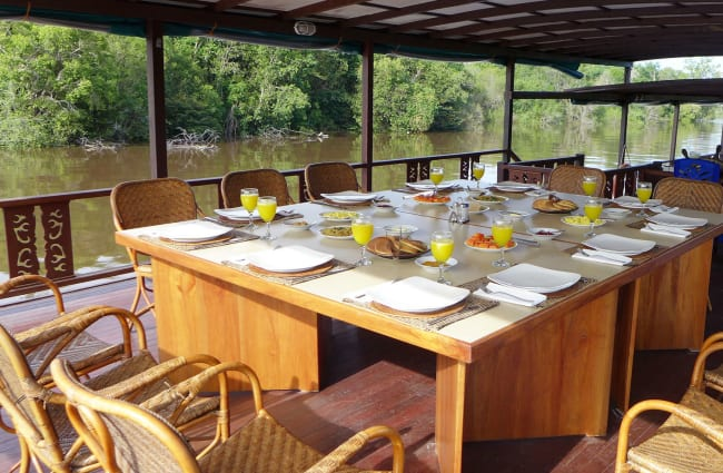 Dining table on the deck