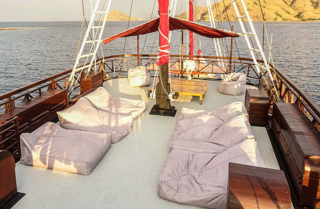 Comfy seats on the top deck