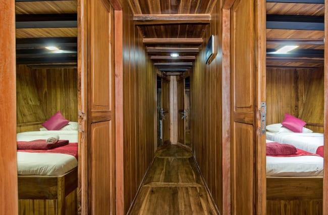 Corridor between cabins