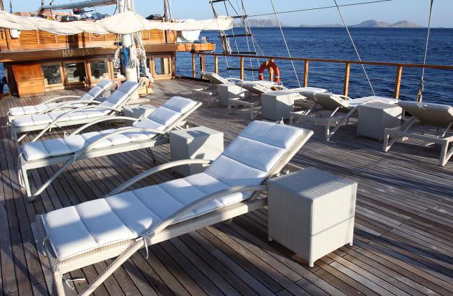 Sun Deck with sun chairs
