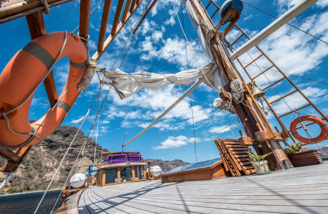 Deck and masts