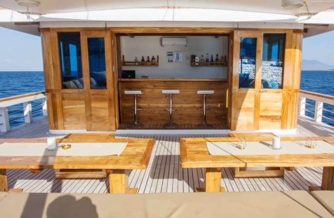 Bar on the deck