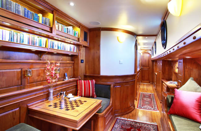 Lounge with chess and sofa