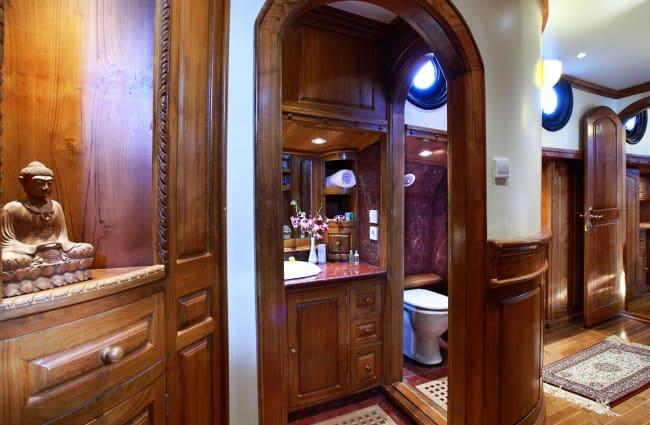 Interior with a bathroom