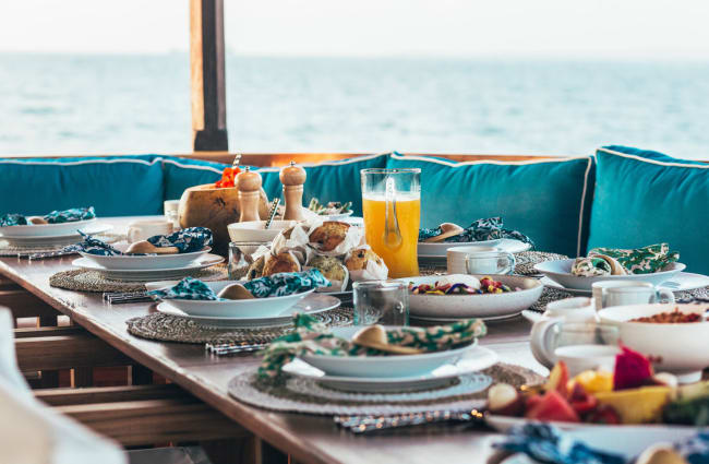 Table with breakfast