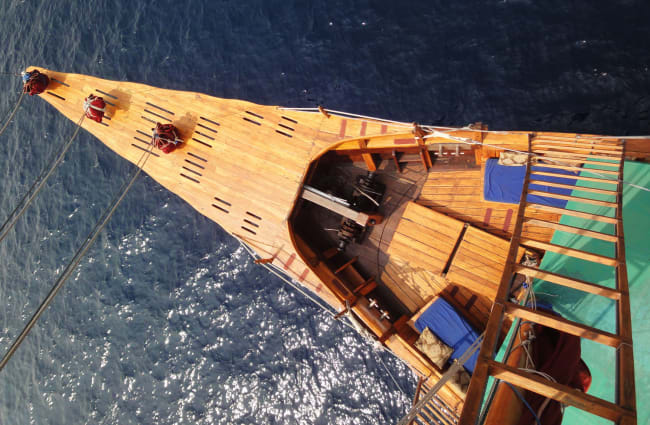 Bowsprit from above