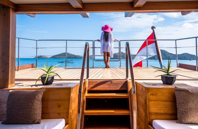 Woman on the Aft Deck