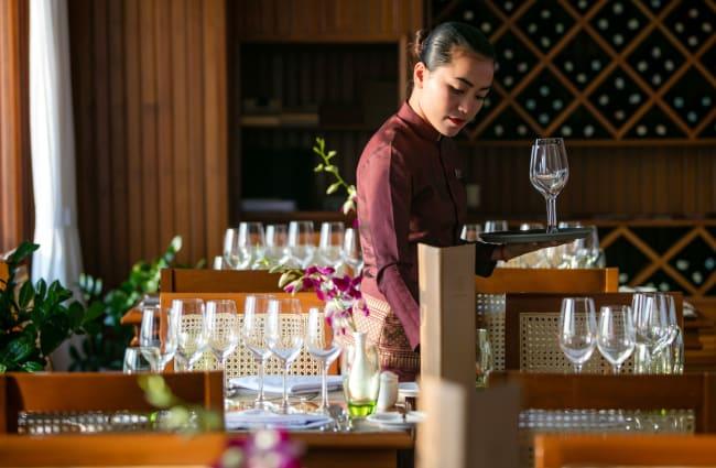 Mekong Pandaw Dining room