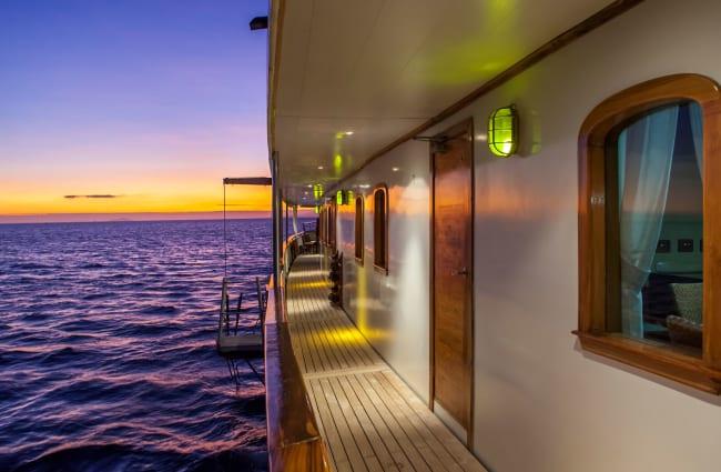 Outside deck corridor