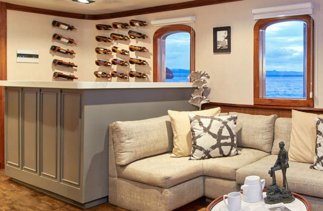 Bar Lounge with white sofa