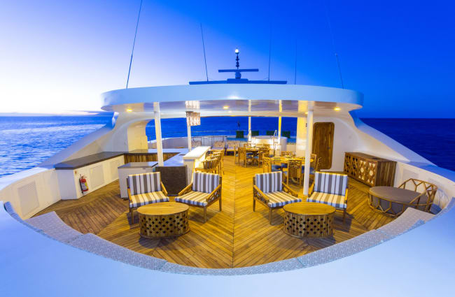 Sitting area on the top deck