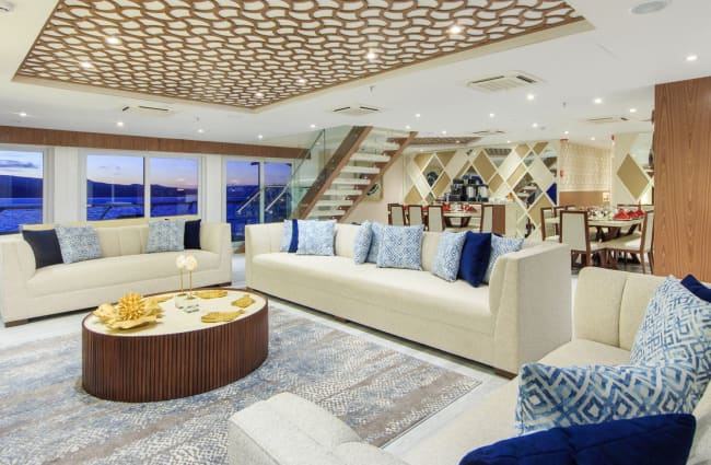 Lounge with sofas