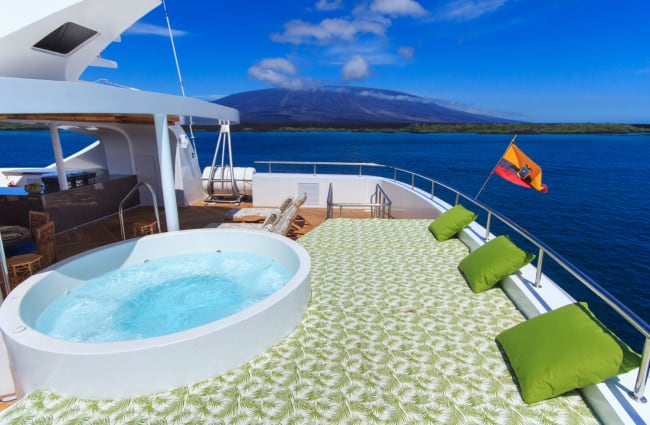 Jacuzzi on the open deck