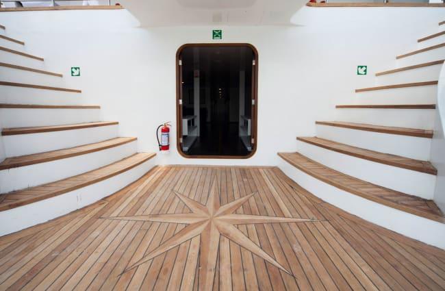 Entrance to the ship