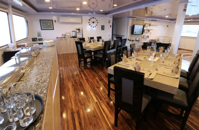 Dining room onboard